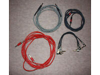 3 Guitar leads and 3 Pedal connector leads