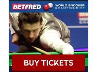 Betfred world snooker championship 2018 final tickets