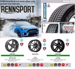 2017 + Focus RS 18inch winter alloy n tire package ( Clear big brake))