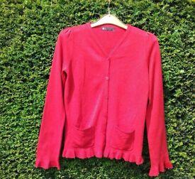 New BHS Girls Red School Cardigan