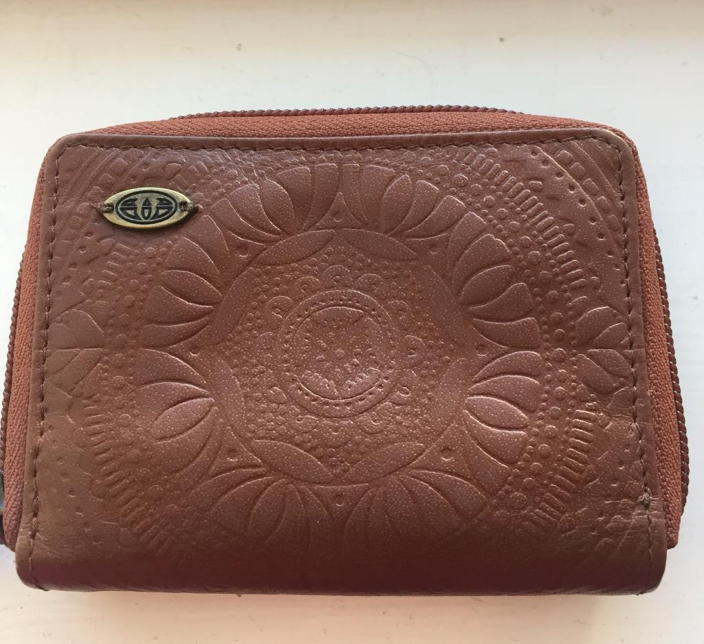 Brown leather Animal Purse