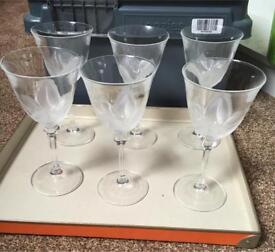 Crystal Glass (6 Medium Size & 6 Large)