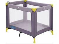 Babystart Travel Cot Grey & Yellow