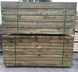 """🌲Wooden 8""""x 4""""X 2.4M Pressure Treated Sleepers -New-🌲"""