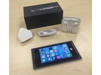 Boxed Black Apple iPhone 5 16GB Factory Unlocked Mobile Phone + Warranty