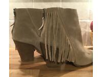 Gorgeous Suede Tan Fringe Boots (6) can post