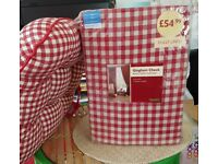curtains gingham check with tie backs