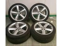 Audi A4 s line 5 spoke Alloy wheels Pirelli tyres