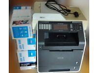 Brother Printer (MFC-9970CDW) + CMYK set of Spare Toner