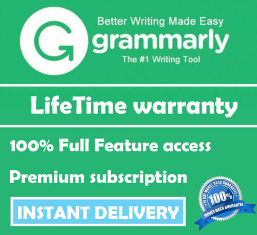 Grammarly Premium   Lifetime account   INSTANT DELIVERY   100% Guaranteed ✔