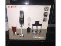AEG Instant mix hand blender 500w B.N.I.B, comes with additional parts