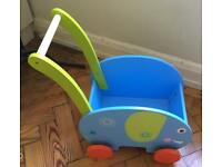 Wooden Baby Walker /Pull Along Wagon