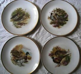 Antique 4 Plates - EPIAG - Czechoslovakia