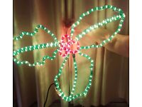 Green & Red Holly Christmas Lights - 30 Inch - Full Working Order As Seen TO GO TODAY