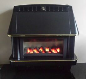 Robinson Willey Firecharm Electronic 4.78 KW Gas Fire ( Black )