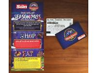 2 ALTON TOWERS TICKETS 05/07/2018