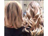 Blush Hair Extensions bespoke luxury Russian Hair £280 a Fullhead All Methods