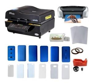 3D Vacuum Sublimation Transfer iPhone Case Molds Sumsung Cover Printer CISS Kit 000950