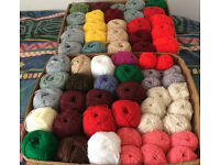 Huge Job lot of DK wool –62 balls of yarn