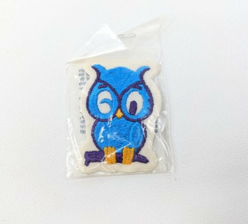 Vintage Voyagers Originals Souvenir Embroidered Patch - Winking Blue Owl