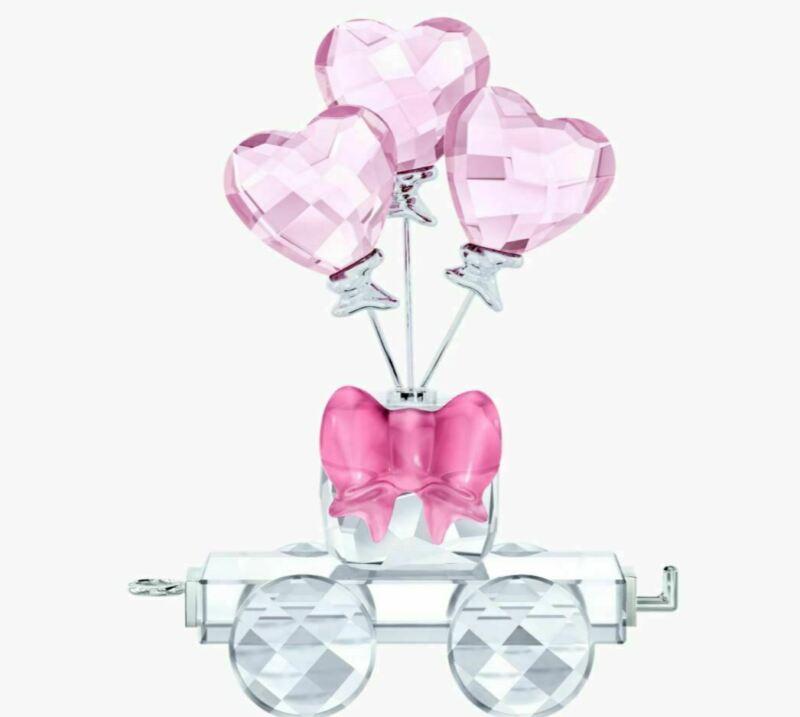 New in Box Swarovski Heart Balloons Wagon #5428615