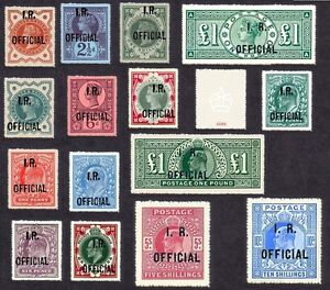 Set of 15 Inland Revenue Officials (FORGERIES)