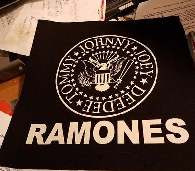 RAMONES PATCH NEW  COLLECTABLE 2017 PUNK MATERIAL BACKPATCH BACK PATCH RARE
