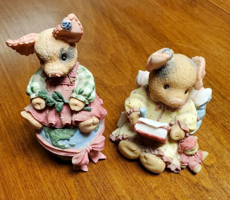 This Little Piggy Enesco Figurine Lot of 2. See Description For More Details.