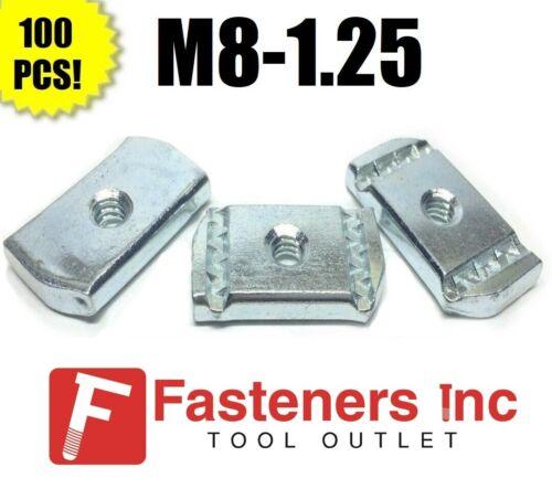 (#4209) P3007M8 EG M8-1.25 Strut Nuts W/O Spring for Unistrut Channel 100/BOX