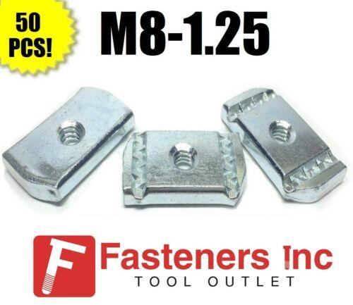 (#4209) P3007M8 EG M8-1.25 Strut Nuts W/O Spring for Unistrut Channel 50/box