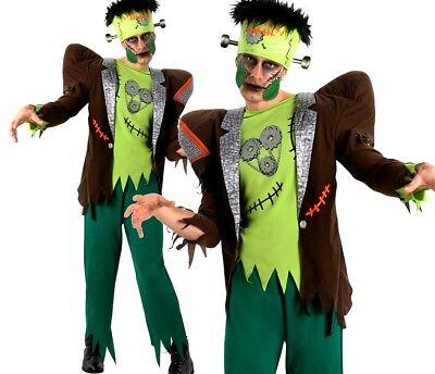 Mens FRANK'NSTEIN Fancy Dress Costume Halloween Frankenstein Adult Monster Scar