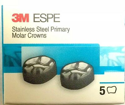 3m Stainless Steel Primary Pediatric Pedo Molar Crowns All Sizes Quantity