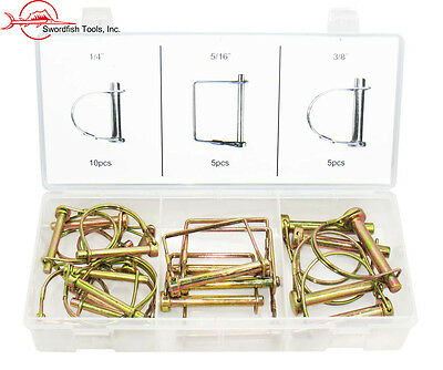 Swordfish 32150 - 20pc PTO Lock Pin Assortment Square & Round Hitch Pin (Pto Lock Pin)