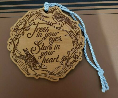 The Raven Boys inspired Wooden Ornament. Owcrate book box