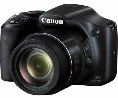 NEW! Canon PowerShot SX530 Digital Camera w/50X Optical Zoom - Wi-Fi & NFC Black