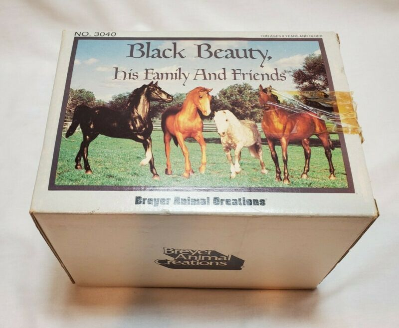 VINTAGE Breyer Creations Horses 3040 Black Beauty Family And Friends UNPLAYED
