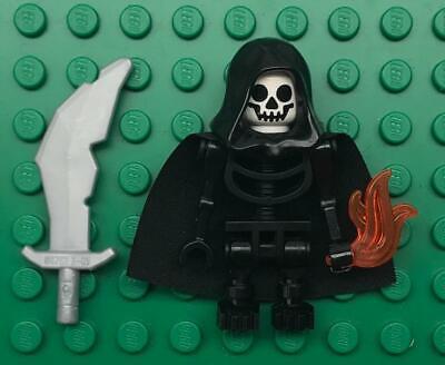Black Lego Skeleton (Lego Skeleton Hooded Warrior Minifig Lot: castle figure black knight)