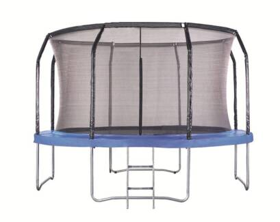 New 14ft Round Trampoline With Ladder Safety Net Enclosure Mat