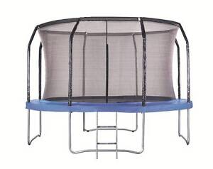 New 12ft Trampoline Round with Ladder Safety Net Enclosure Mat Thomastown Whittlesea Area Preview