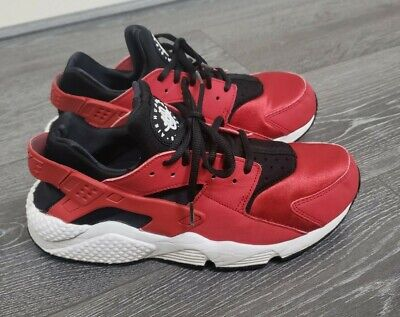 MENS WOMENS RED & BLACK NIKE AIR HUARACHE TRAINERS SIZE 7 to fit 6