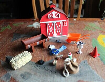 Lot of Breyer Classic & Stablemate Scale Barn and Farm Accessories