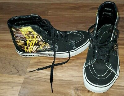 "Vans Sk8 Hi Iron Maiden ""Killers"" Skate Hi-tops Shoes M's-6     W's-7.5"