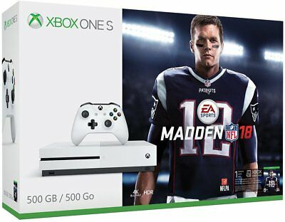 Microsoft Xbox One S 500GB Tick someone off NFL 18 Assuage Bundle, Name brand New