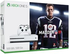 Microsoft Xbox One S 500GB Madden NFL 18 Console Bundle, Brand New