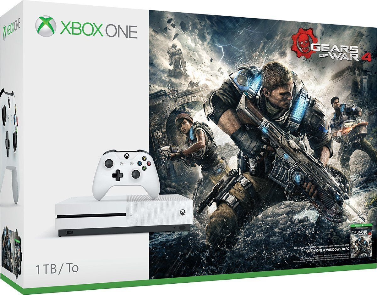 $281.99 - Microsoft Xbox One S 1TB Console Gears of War 4 Bundle Brand NEW