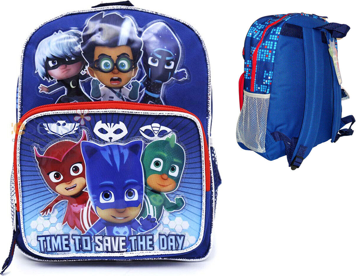 "PJ Masks 10"" Mini Backpack Boy's Canvas Book Bag"