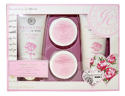Grace Cole ENGLISH ROSE 4 tlg Wellness Beauty Pflege Set für Damen Neuware