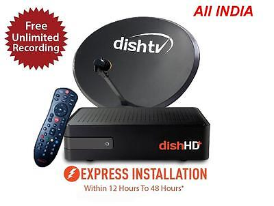 Dish TV NXT HD - Dishtv recorder DTH Set Top Box with 3 YEARS Free Subscription for sale  Kolkata