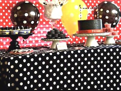 2 Mickey Mouse Polka Dot Table Covers Birthday Party Decorations Red & Black - Polka Dot Party