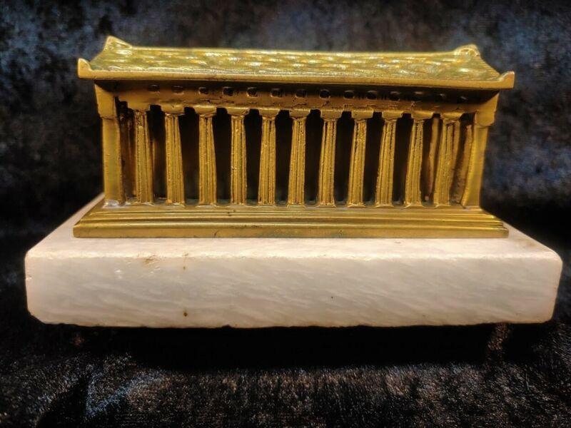 The Temple of Hephastus Solid Bronze Greek Souvenir Building
